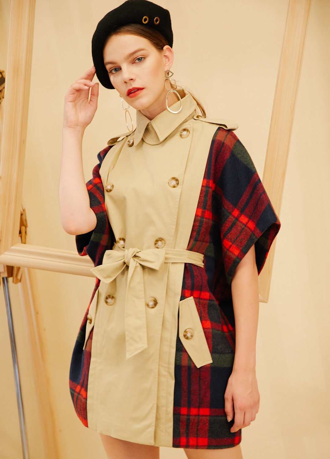AHIN TRENCH CHECK COAT [FC-CO-555]
