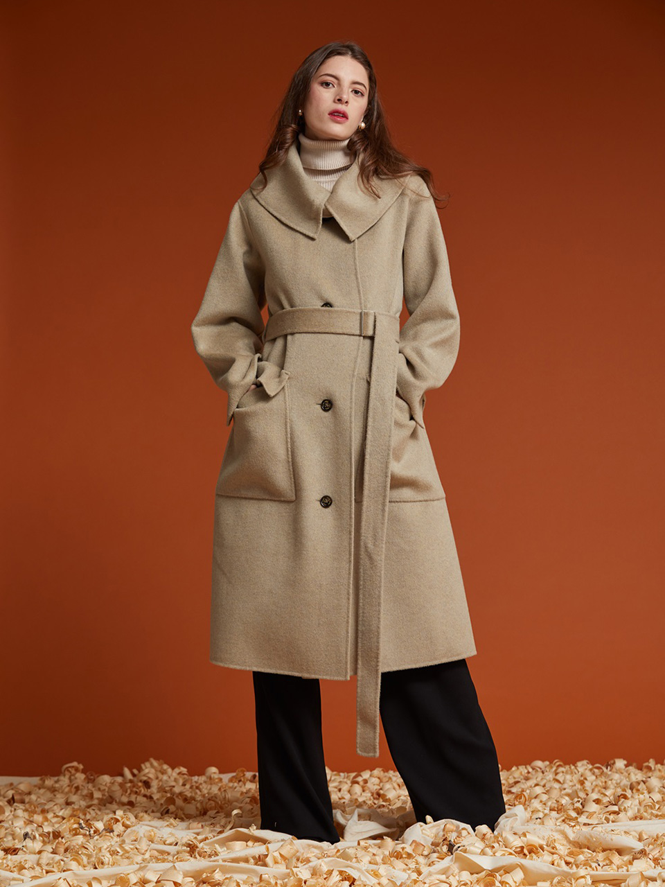 AHIN HANDMADE KARA WOOL COAT [HB-CO-805]