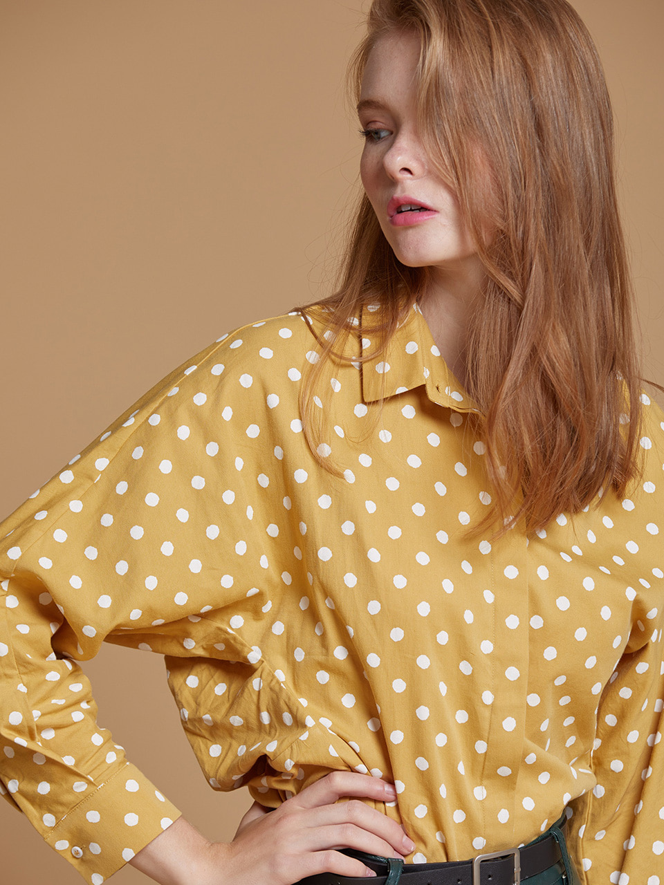 AHIN DOT SHIRTS [YELLOW][SS-SH-796]
